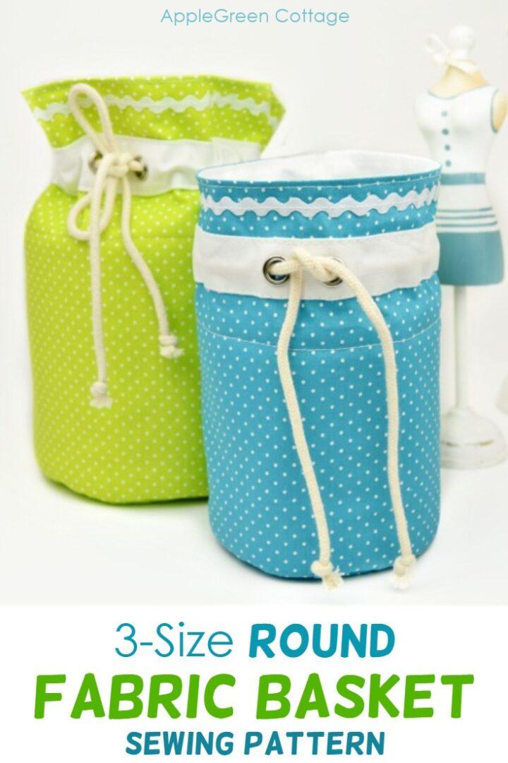 Sweetest Round Fabric Storage Bins