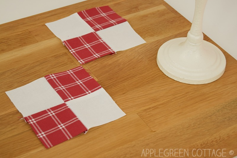sew a quilt block