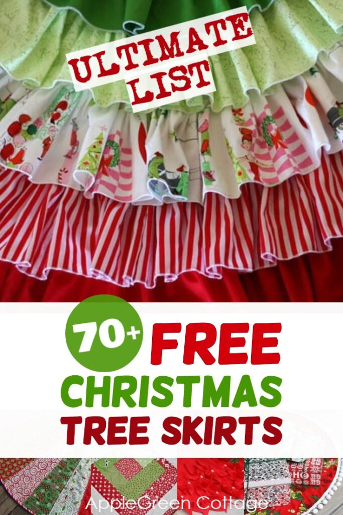 Christmas tree skirts to diy