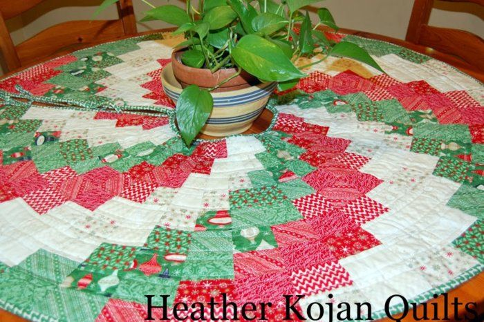 quilted tree skirt for Christmas