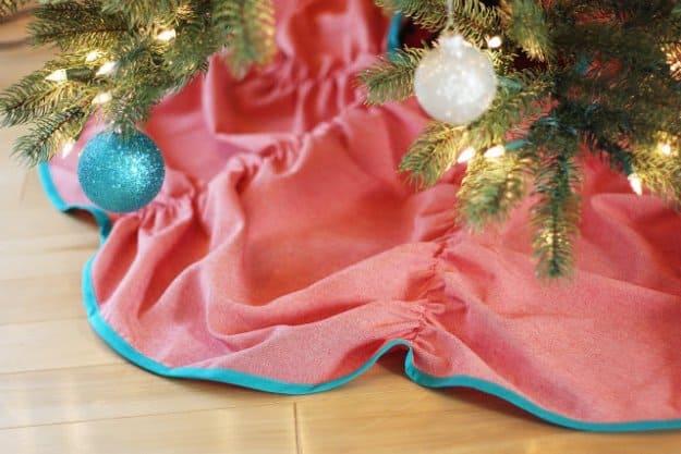 easy diy tree skirt to sew