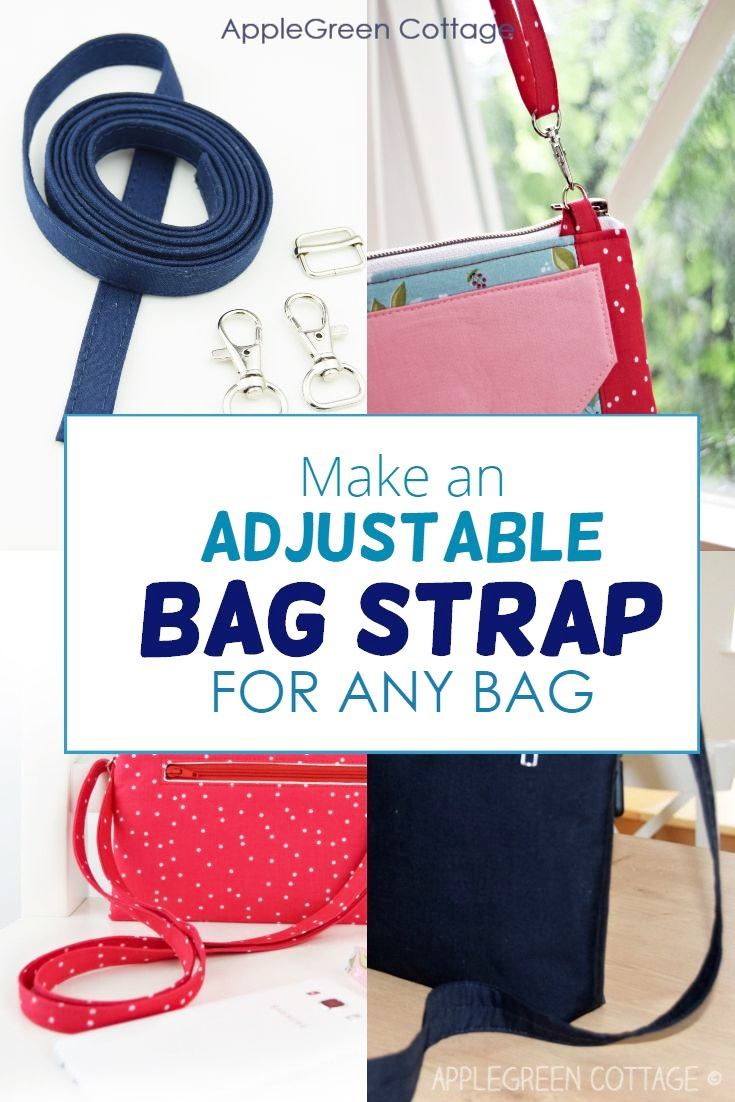 how to make adjustable straps for bags