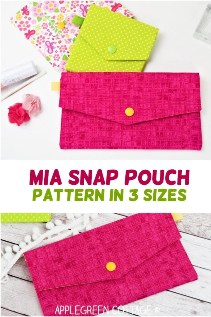 Easy Pouch Pattern - Mia Snap Pouch!
