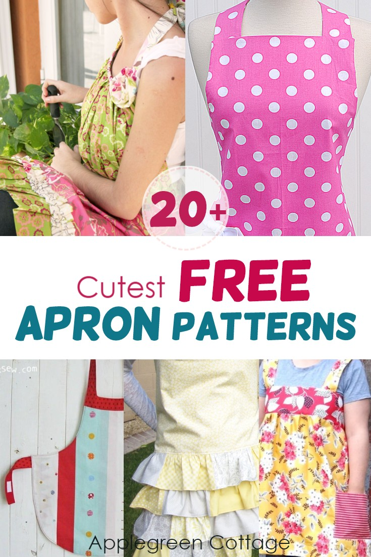 20 Free Apron Patterns To Sew In 2021 Applegreen Cottage