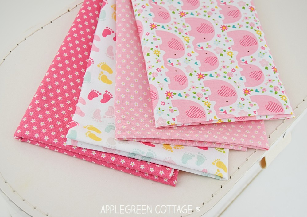 pink cotton fabric to sew bibs