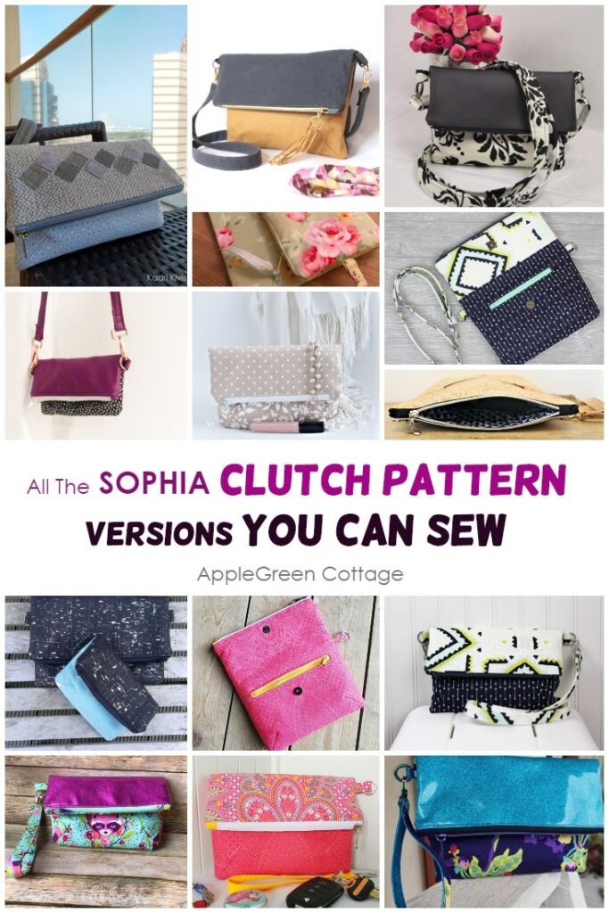 clutch and bag pattern sewing