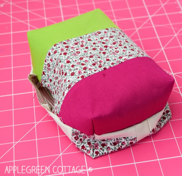 how to sew a pencil holder