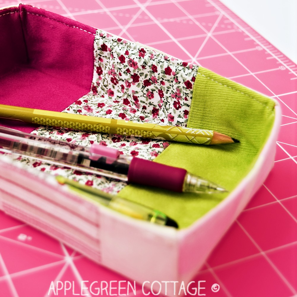 free sewing pattern for a pencil holder