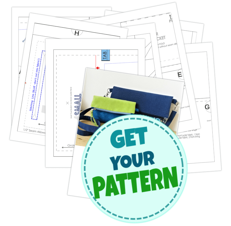 pattern for fold-over clutch