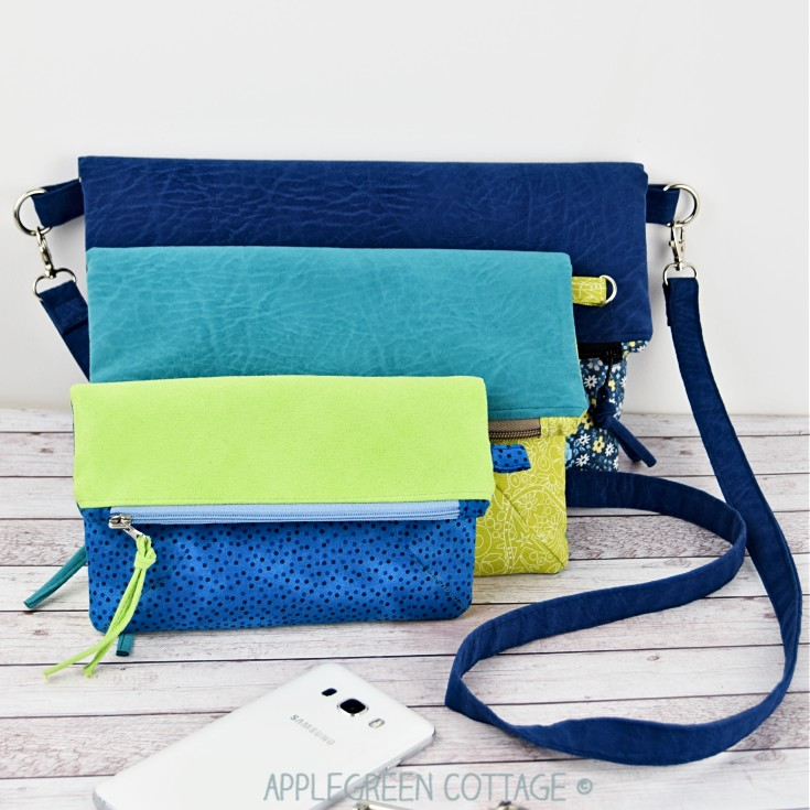 sizes of fold-over clutch pattern
