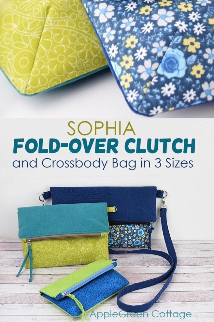 Foldover Crossbody Bag Pattern - Sophia Clutch and Crossbody Bag