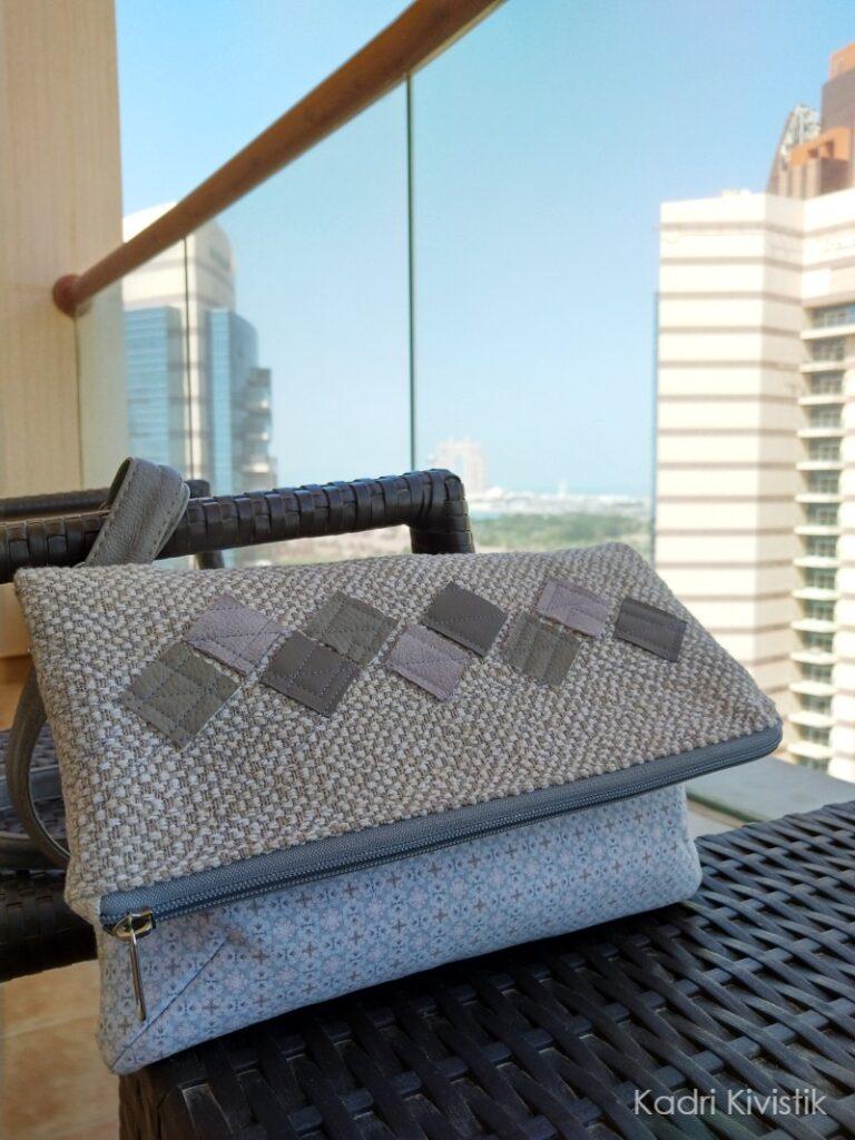 diy crossbody foldover purse with home decor fabric