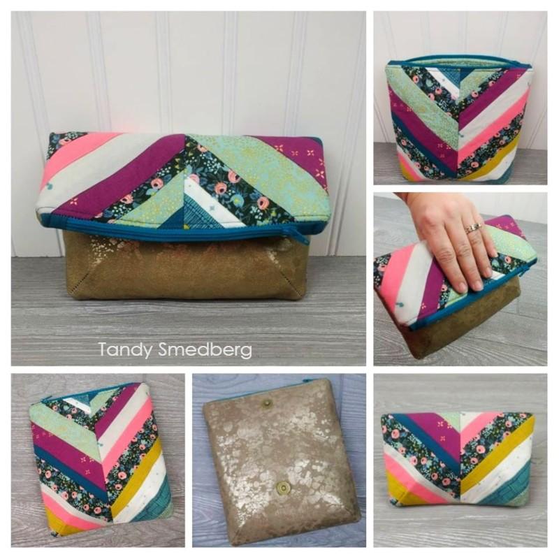 crossbody foldover purse pattern to sew