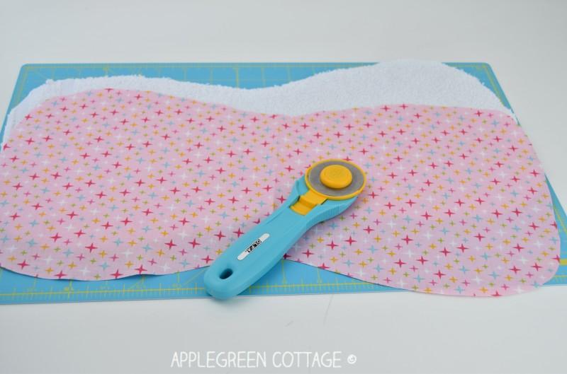 easy burp cloth free pattern