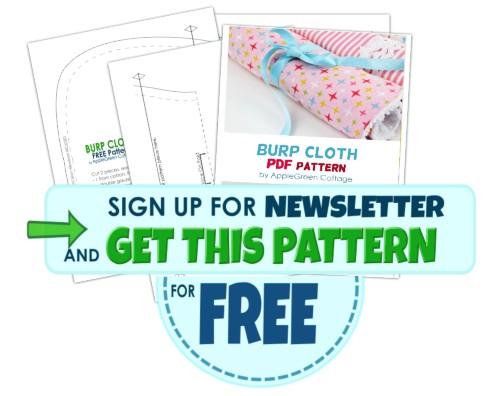 burp cloth pattern - get free pattern