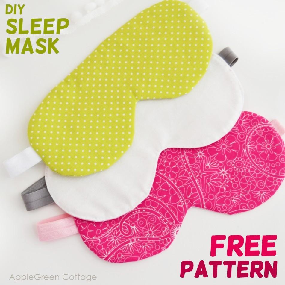 diy sleep mask free pattern