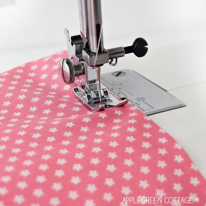 sewing machine double fold hem