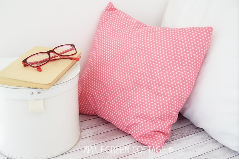 cozy setting with a simple diy pink pillow