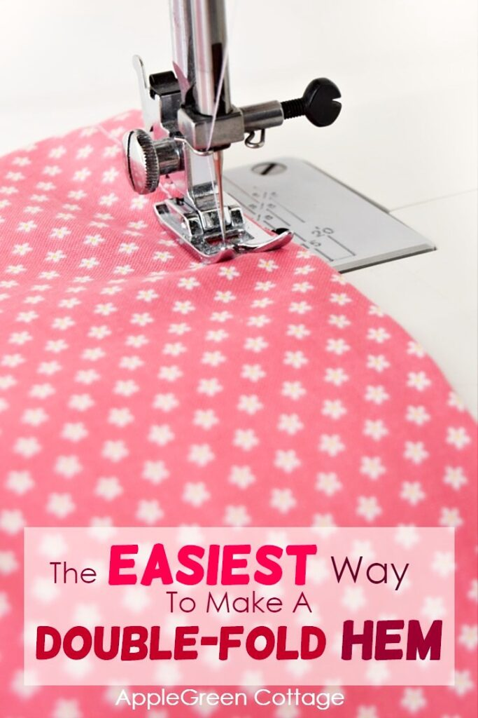 sewing tips - double fold hem