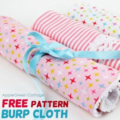easy burp cloth pattern