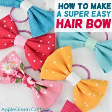 easy hair bow