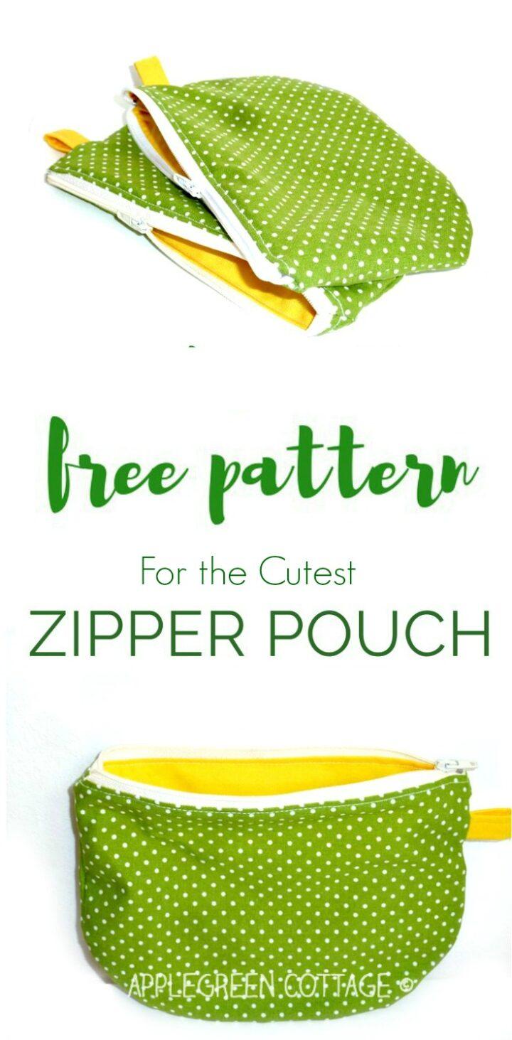 Free PDF Printable Template - My Polka-Dot Zipper Pouch