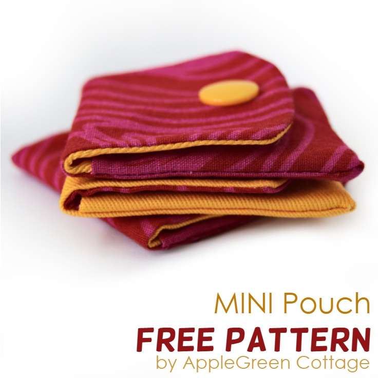 small pouch made with free pattern