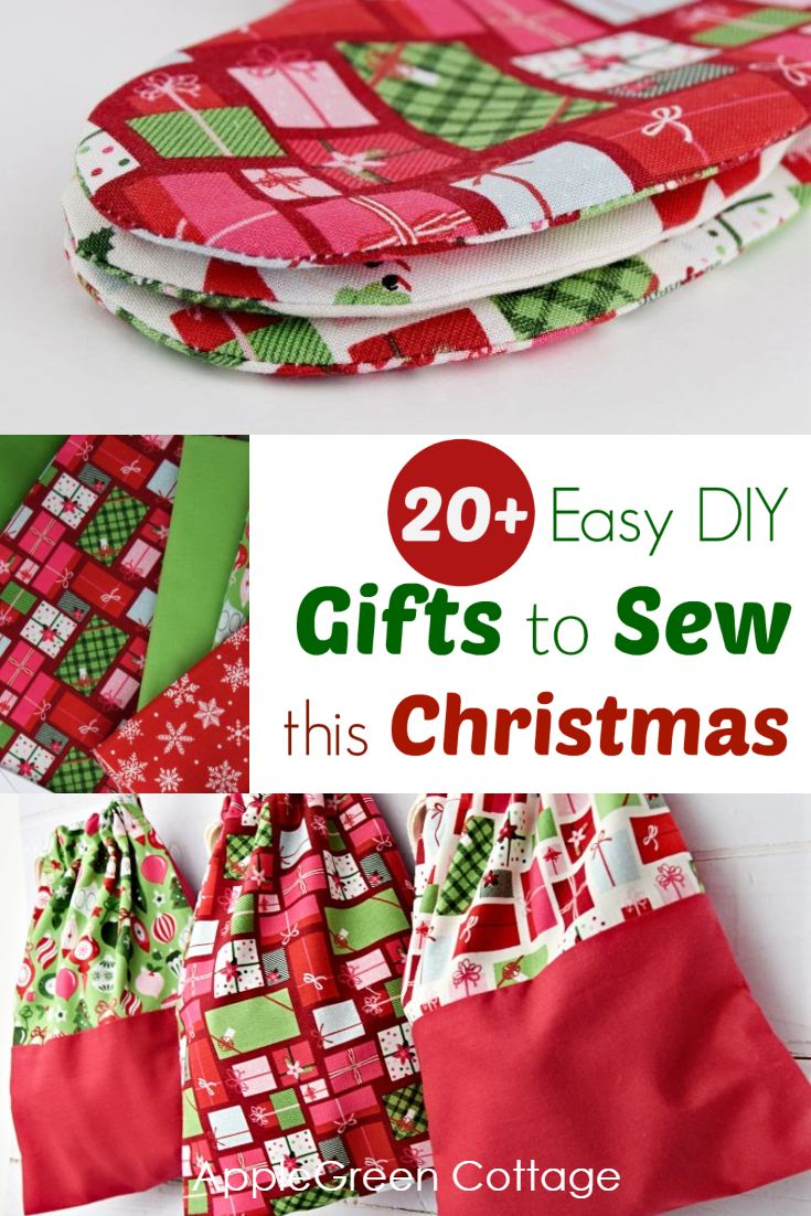 20 Easy Diy Christmas Gifts To Sew This Christmas Applegreen Cottage