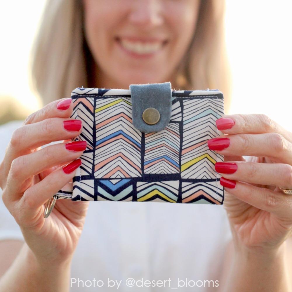 Bifold Wallet Pattern with stripes