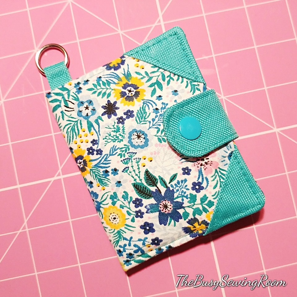 Bifold Wallet Pattern with fabric accents