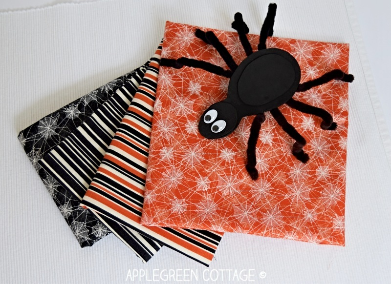 spider and fabric