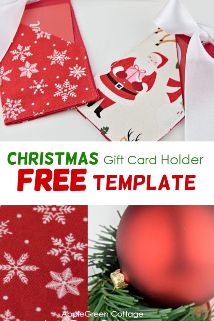 Christmas Gift Card Holder - Free Template