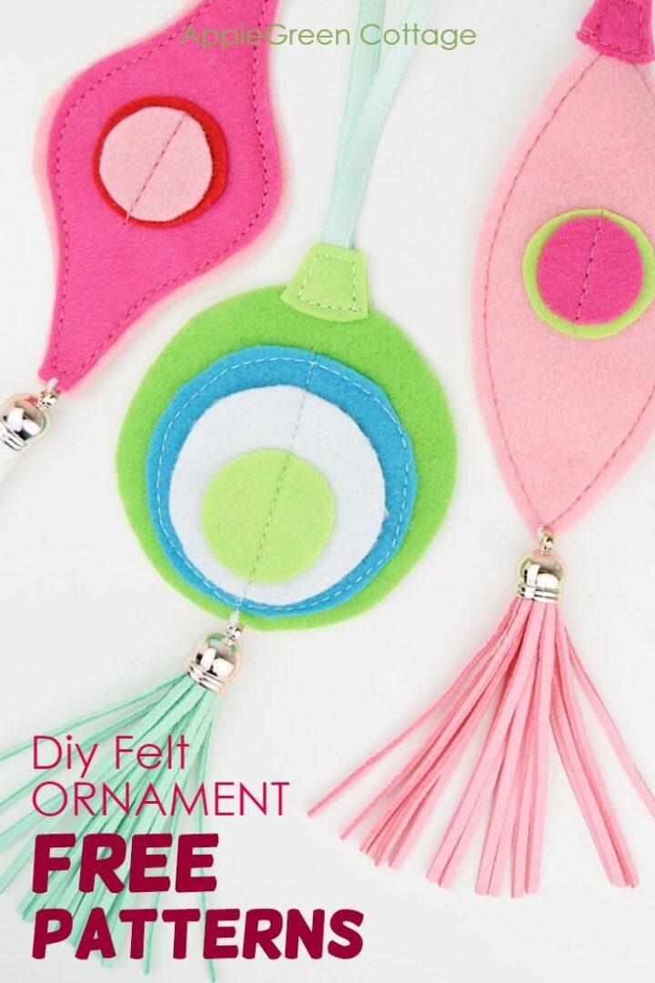 Diy Felt Ornament - Fabulosly Trendy But So Easy!