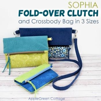 Sophia Fold-Over Clutch And Crossbody Bag Pattern