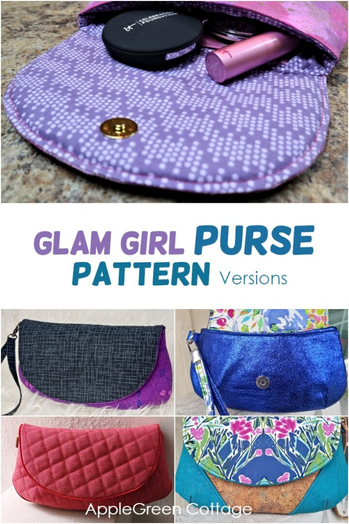 Purse Sewing Pattern - Glam Girl Purse Testers Versions