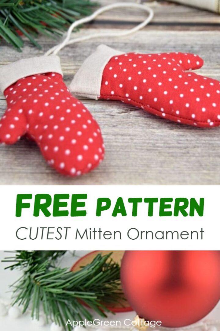 Mitten Ornament - Free Christmas Mitten Template!
