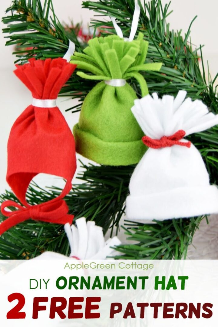 Ornament Hat - 2 Free Patterns: Mini DIY Beanie  And a Baby Hat Ornament