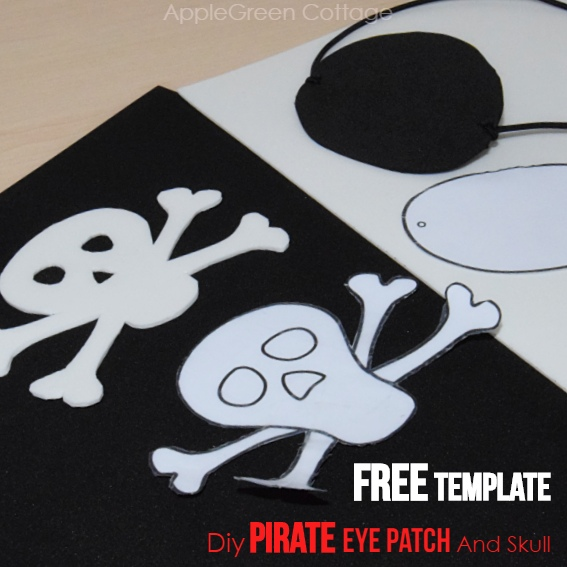 homemade pirate costume with eyepatch
