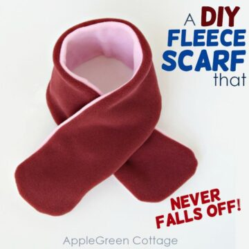 diy fleece scarf easy