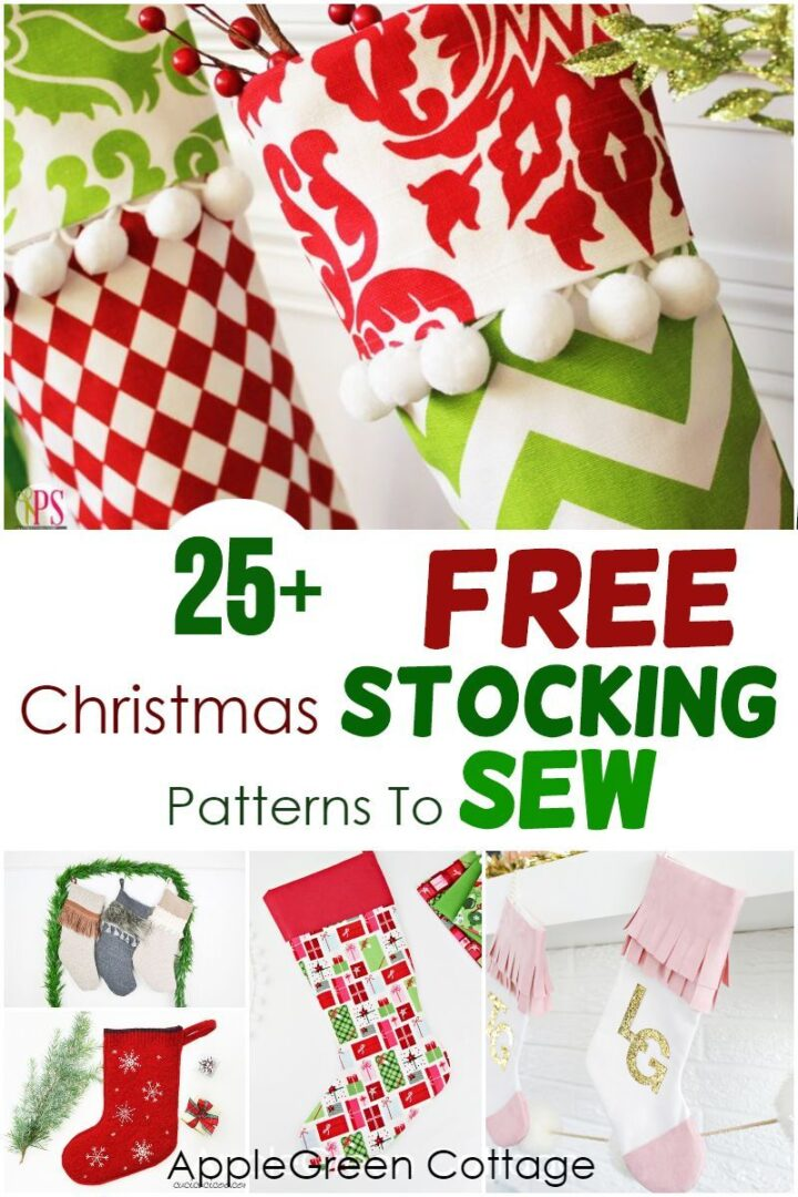 25+ Christmas Stocking Patterns - To Sew Now!