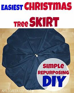 How To Make the Easiest Christmas tree skirt