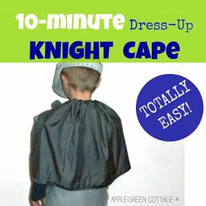10-Minute DIY KIDS Knight Cape