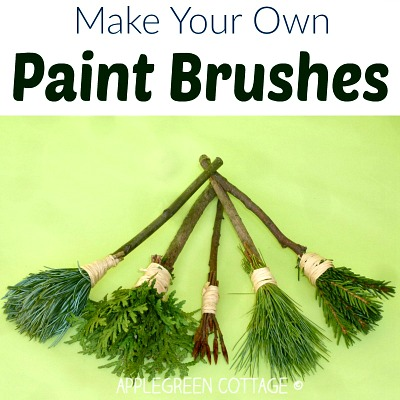 How To Make DIY Nature Paint Brushes for Kids