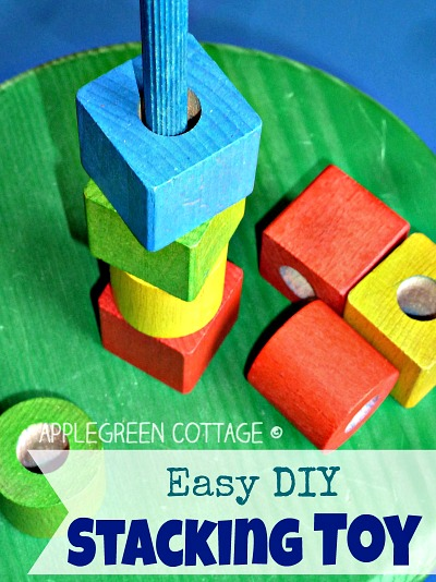 Easy DIY Wooden Stacking Toy
