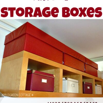 large storage boxes diy