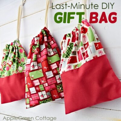 easy gift bags to sew