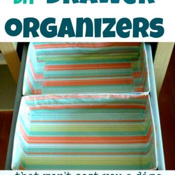 diy drawer organizer