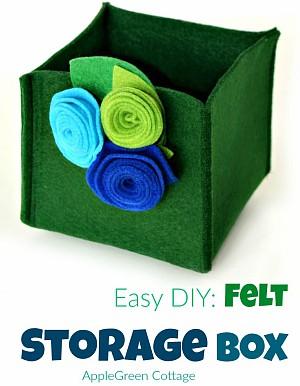 Easy-Sew: Quick DIY Felt Storage Box