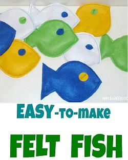 How to Make Easy Felt Fish