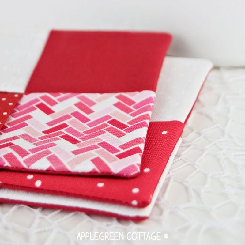 finished diy fabric coasters